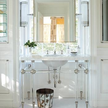Lucite Washstand, Transitional, bathroom, Veranda