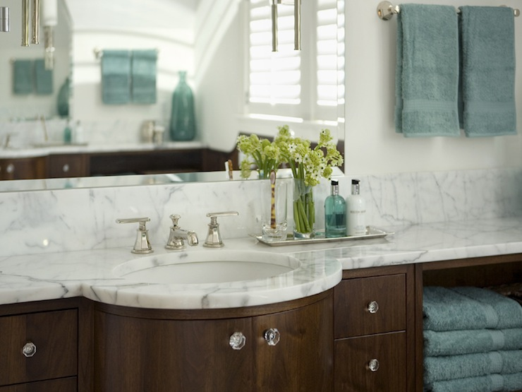 Teal And Brown Bathroom Contemporary Bathroom Siemasko Verbridge