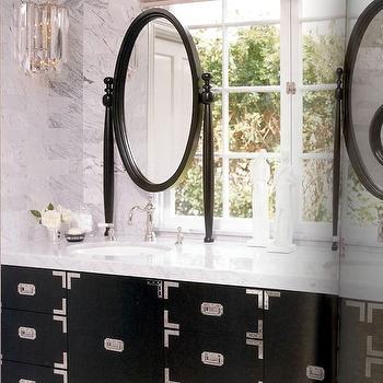 Campaign Bathroom Vanity, Contemporary, bathroom, Kelly Wearstler