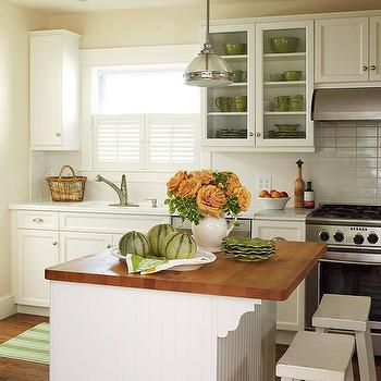 Beadboard Kitchen Island, Cottage, kitchen, BHG