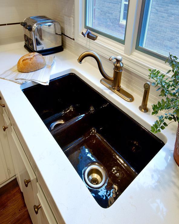 Kohler Low-Divide Sink in Brown/Black - Traditional - kitchen - Lisa ...