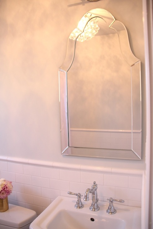 Allen Roth Hovan Arch Frameless Mirror Traditional
