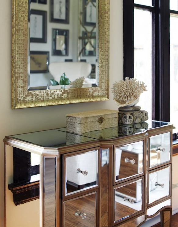 Mirrored Chest Contemporary Entrance Foyer