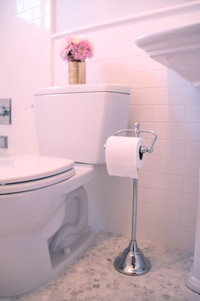 Freestanding Floor Toilet Paper Holder - Traditional - bathroom ...