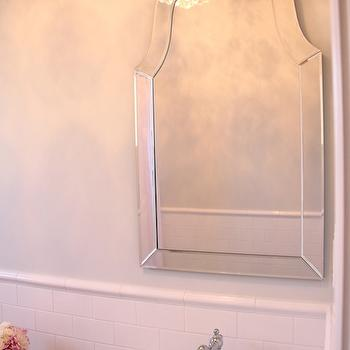 Allen + Roth Hovan Arch Frameless Mirror, Traditional, bathroom, Benjamin Moore Horizon, 346 Living