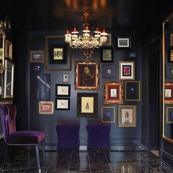 Purple Velvet Chair, Eclectic, entrance/foyer, York House