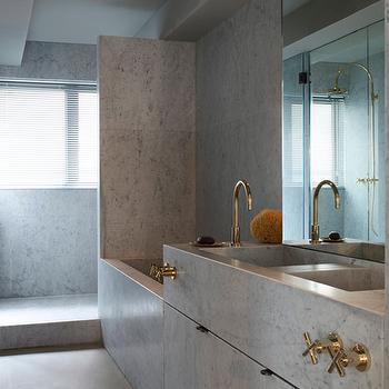 Marble bathroom, Modern, bathroom, Studio Isle