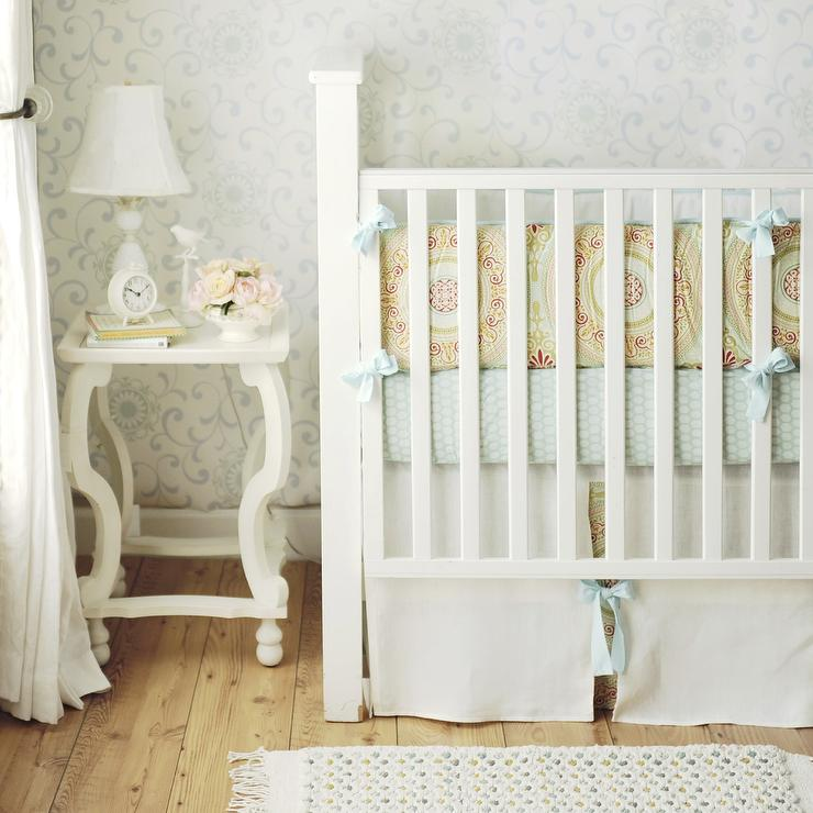 Shabby Chic Baby Bedding yellow and blue crib bedding cottage nursery arrivals inc