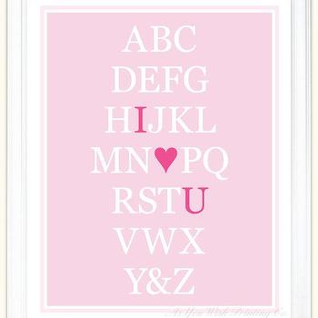 Alphabet Art I Love You 11x14 Poster in by AsYouWishPrinting