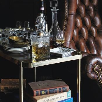 Vintage Bar Cart, Eclectic, den/library/office, York HousB