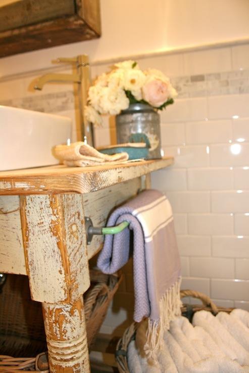 Repurposed Washstand Transitional Bathroom Sarah