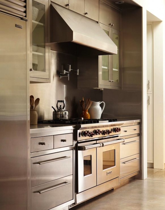 Stainless Steel Kitchen Cabinets View Full Size