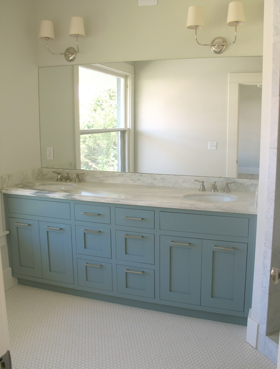 bathroom blue building modern top vanity cabinet