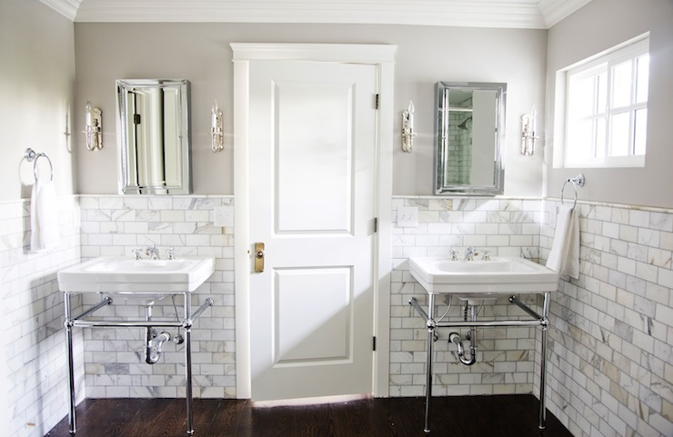 Wonderful White Tile Bathroom For Bathroom Remodel With Bathroom Windows Above