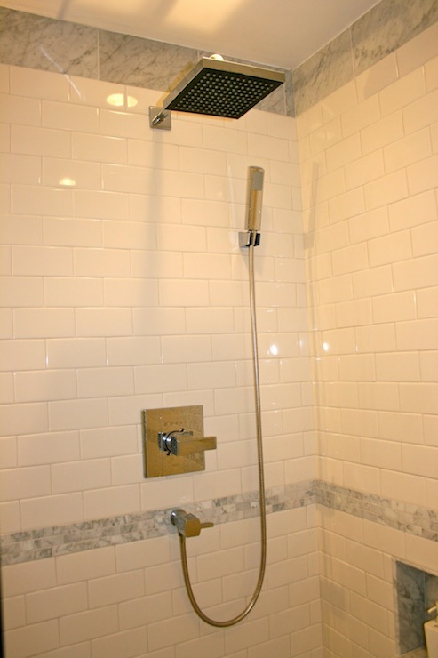 Shower Subway Tiles Design Ideas