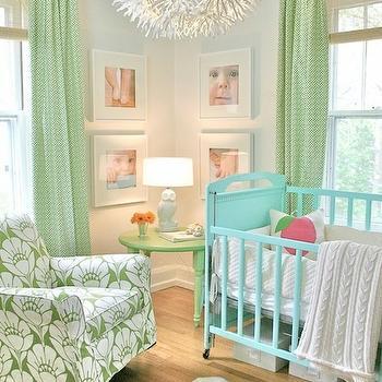 Ikea Chandelier, Contemporary, nursery, Valspar Apple, Project Nursery