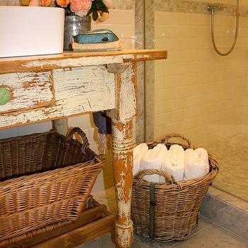 Repurposed Bathroom Vanity, French, bathroom, The Polished Pebble
