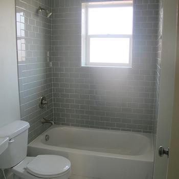 Gray Subway Tile Shower Surround Design Ideas