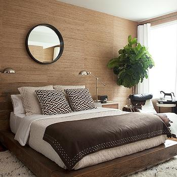 Chevron Blanket Contemporary Bedroom Benjamin Moore