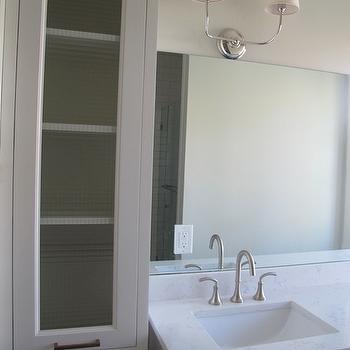 Cambria Torquay Quartz, Transitional, bathroom, Benjamin Moore White Dove, White & Gold Design