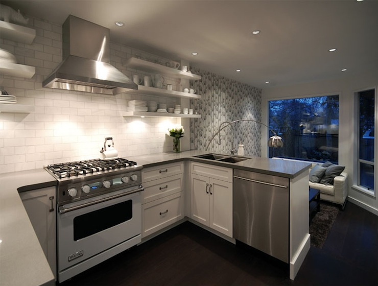 kitchen design with no top cabinets. Kitchen with No Upper Cabinets  Contemporary kitchen Cutler