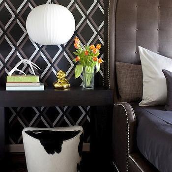 Cowhide Ottoman, Contemporary, bedroom, Decor Demon