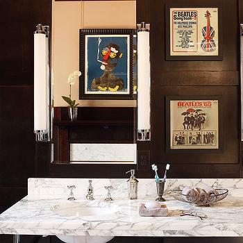Dark Wood Paneled Bathroom, Vintage, bathroom, Decor Demon