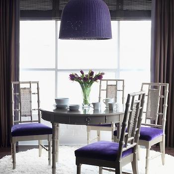 Purple and Gray Dining Room, Contemporary, dining room, Decor Demon