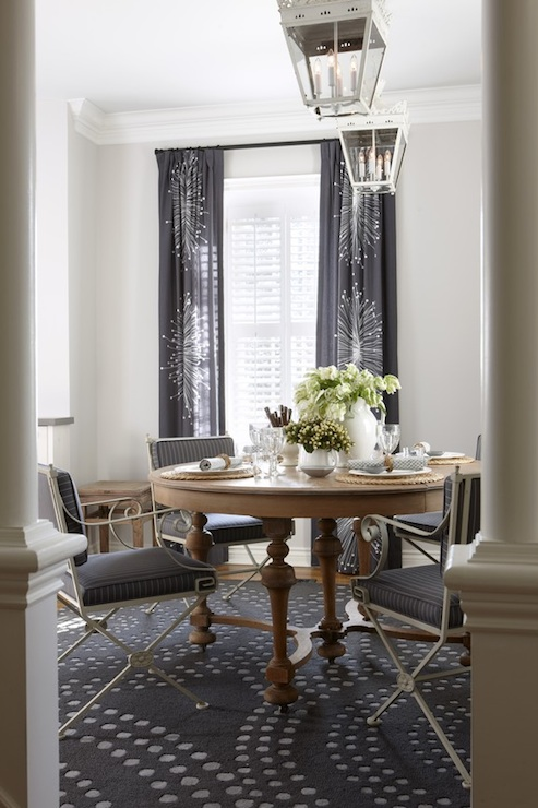 navy blue dining room contemporary dining room para