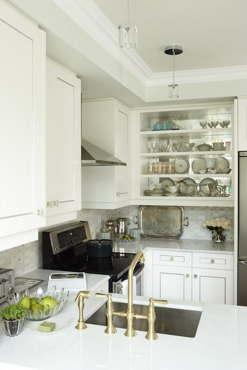 Upper Cabinets - Transitional - kitchen - Para Paints Whitecap ... on l-shaped kitchen with peninsula, remodel kitchens with a peninsula, galley kitchen with peninsula, g shaped kitchen with peninsula,