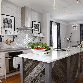 Herringbone Subway Tile, Contemporary, kitchen, Para Paints Mennonite Grey, Sarah Richardson Design