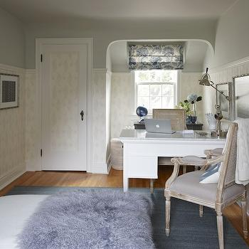 Gray Green Paint Colors, Transitional, den/library/office, Para Paints Surf, Sarah Richardson Design