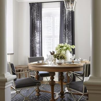 Navy Blue Dining Room Curtains Design Ideas