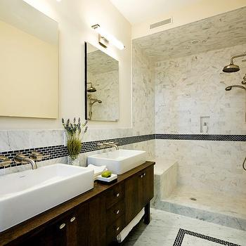 Open Shower Design, Contemporary, bathroom, Carlyle Designs
