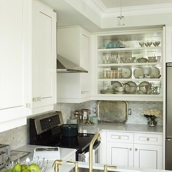 Upper Cabinets, Transitional, kitchen, Para Paints Whitecap, Sarah Richardson Design
