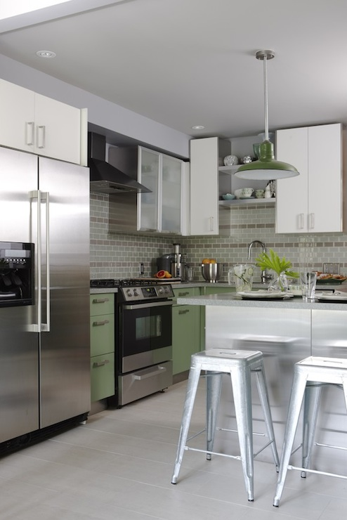 Green Kitchen Cabinets Contemporary Kitchen Para Paints Old Sterling Sarah Richardson Design