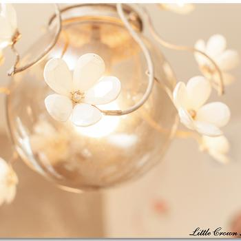 Flower Chandelier, Traditional, nursery, Little Crown Interiors