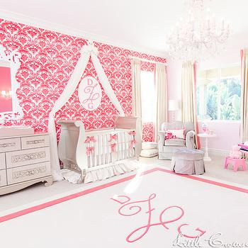 Pink and Gray Nursery, Traditional, nursery, Little Crown Interiors