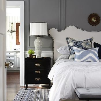 Studded Headboard, Transitional, bedroom, Para Paints Trendsetting Style, Sarah Richardson Design