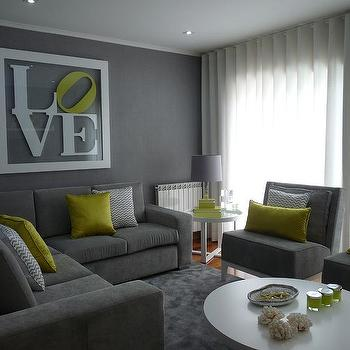 Grey sofa design ideas - Living room colours to go with grey ...