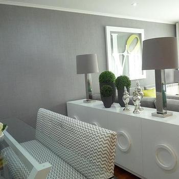 White Lacquer Buffet, Contemporary, dining room, Blanco Interiores