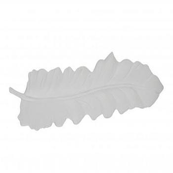 White Feather Dish, Tabletop, Accessories, Jayson Home