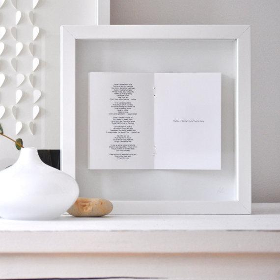 wedding vows poem framed picture by sarahandbendrix on etsy