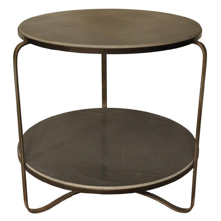 Threshold Grey Heatherstone Metal Patio Side Table