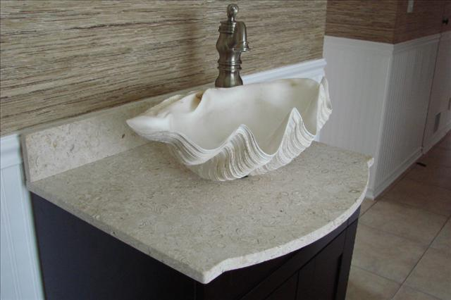High Quality Clam Sink, Bathroom Clam Bowl Sink