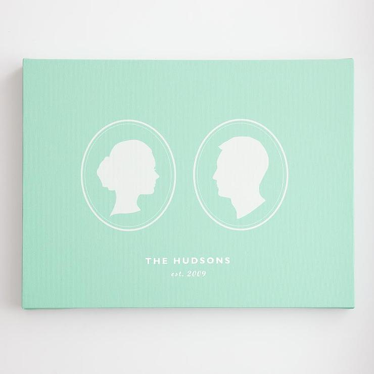 Personalized Cameo Couple Silhouette Wall Art