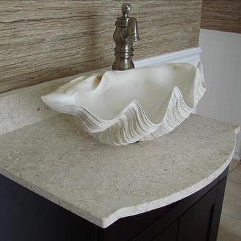 Clam sink, bathroom clam bowl sink