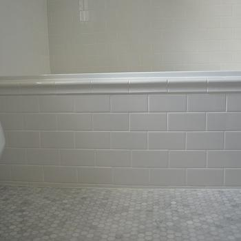 Subway Tile Tub, Transitional, bathroom, One Story Building