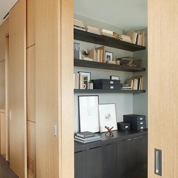 Espresso Floating Shelves Design Ideas