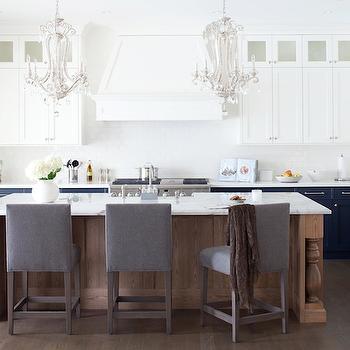 Blue KItchen Cabinets, Contemporary, kitchen, Kelly Deck Design